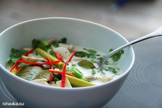 Рецепты тайской кухни, тайские блюда, суп том ка, тайские рецепты, кухня Тайланда