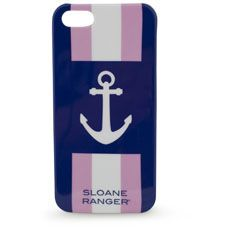 Sloane Ranger anchor phone case for iPhone 4/4S. Too cute. Love the colors too.
