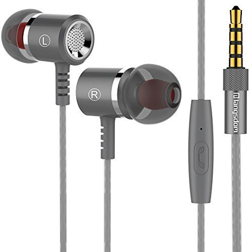 Cheap Langsdom M400 Earbud Earphones Stereo Bass Remote Control with Microphone for iPhone iPad Samsung AndroidMP3    MP4 Players (Titanium Grey) Best Selling