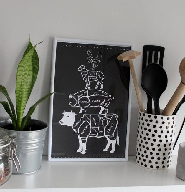meats division plakat A4 - ARTT - Wydruki cyfrowe