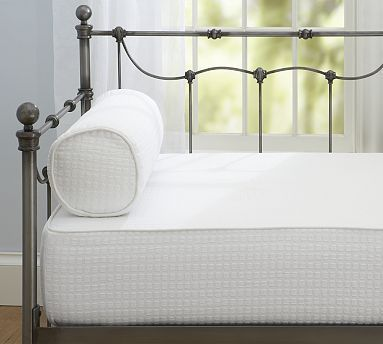 Cameron Organic Matelasse Daybed Cover. There are also pillow covers and bed skirts in the same fabric. Nice if you don't want to have the duvet/sheets etc on the bed when it's being used as a daybed. Pottery Barn. $129 for the mattress cover.