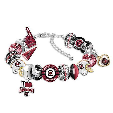 South Carolina Gamecocks Fashionable Fan Women's Charm Bracelet