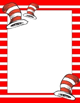A super cute set of 8 Suess inspired papers for writing, newsletters, reading activities, or any other project that requires an extra bit of color ...