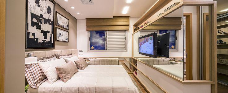 Suíte - Apartamento Decorado do Alameda Eco Resort & Residence da Plaenge em Londrina