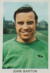 Blackburn Rovers goalkeeper John Barton in 1970.