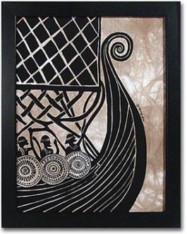 Ingebretsen's; Viking Ship Batik Print