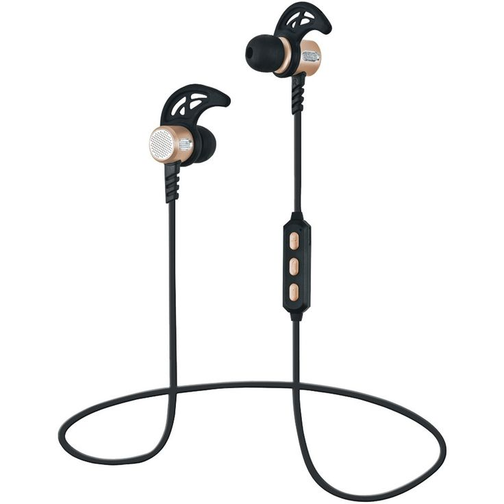 Supersonic IQ-132BT-GOLD Bluetooth(R) Sport Earbuds with Microphone (Gold)