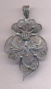 White gold Portuguese filigree #Portugal