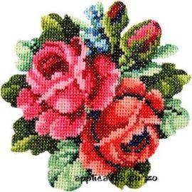 Strijkapplicatie Geborduurde rozen