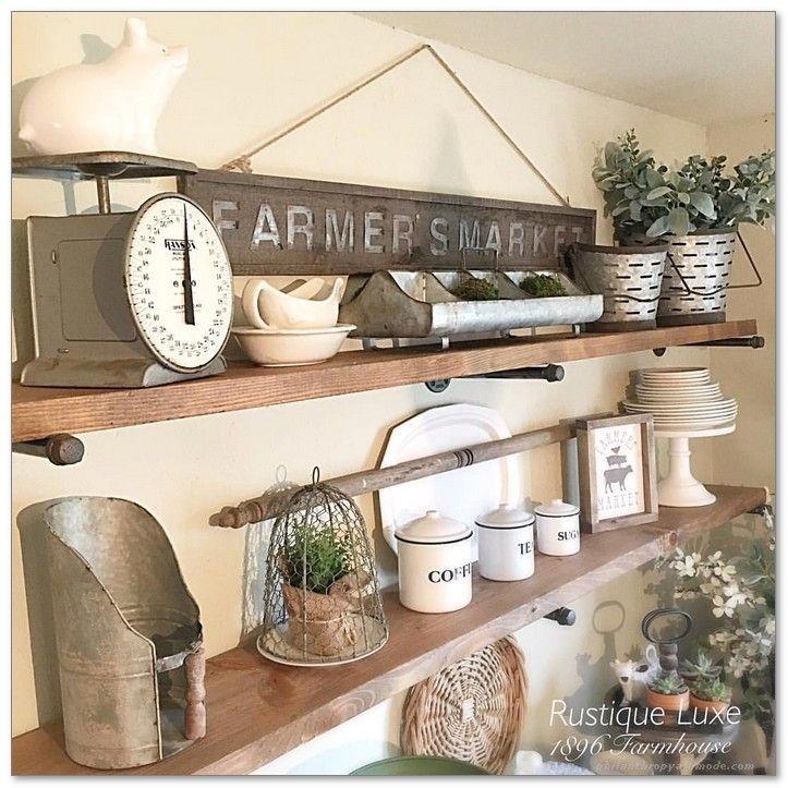 Need Some Creative Diy Wall Art Ideas For Your Blank Walls We Believe You Should Show Your Cr Farmhouse Shelves Decor Farmhouse Kitchen Decor Farmhouse Dining