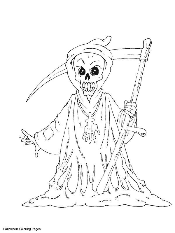 scary halloween coloring pages scary grim reaper coloring pages printable scary grim reaper coloring