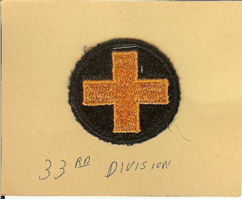 WW2 33rd Infantry Division Army Patch Insignia ORIGINAL.