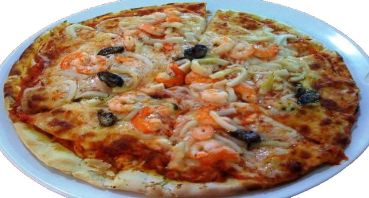The classic, true Pizza alla Marinara is a traditional Neapolitan dish named after the mariners who made it. It is a peasant dish of a pizza base topped with a tomato-based sauce with garlic and oregano. However, the term Marinara has caused much confusion and many modern versions of this pizza (such as this Seafood Marinara Pizza) include seafood.