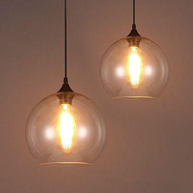 E27 20*18CM Line 1M American Creative Nordic Contracted Rural Glass Ball Single Head Droplight Led Lanp 4503099 2016 – £20.99