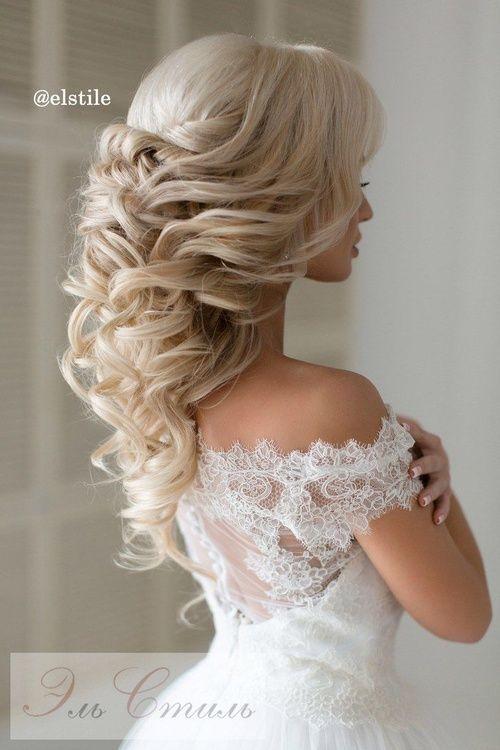 Half up half down hairstyles for weddings