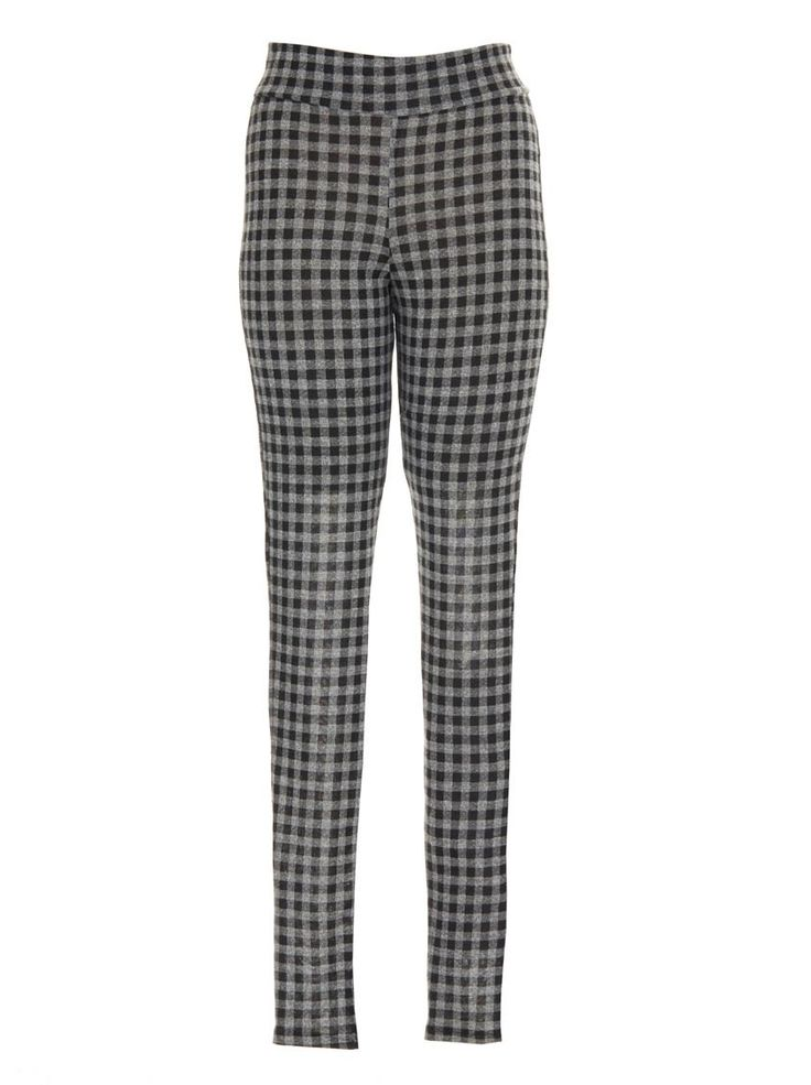 Fitted tartan pants