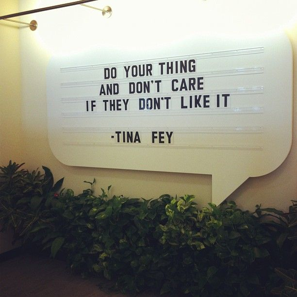 wise words from tina fey. Shop and Save up to 90% on all Makeup and Cosmetic Tools at www.mymakeupbrushset.com