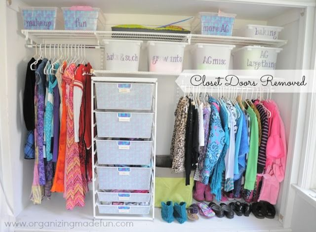 Organized Big Girl's Closet - learn how this closet got organized and how to teach kids to keep it organized!