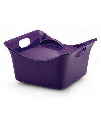 Purple 3.5-Qt. Covered Square Dish