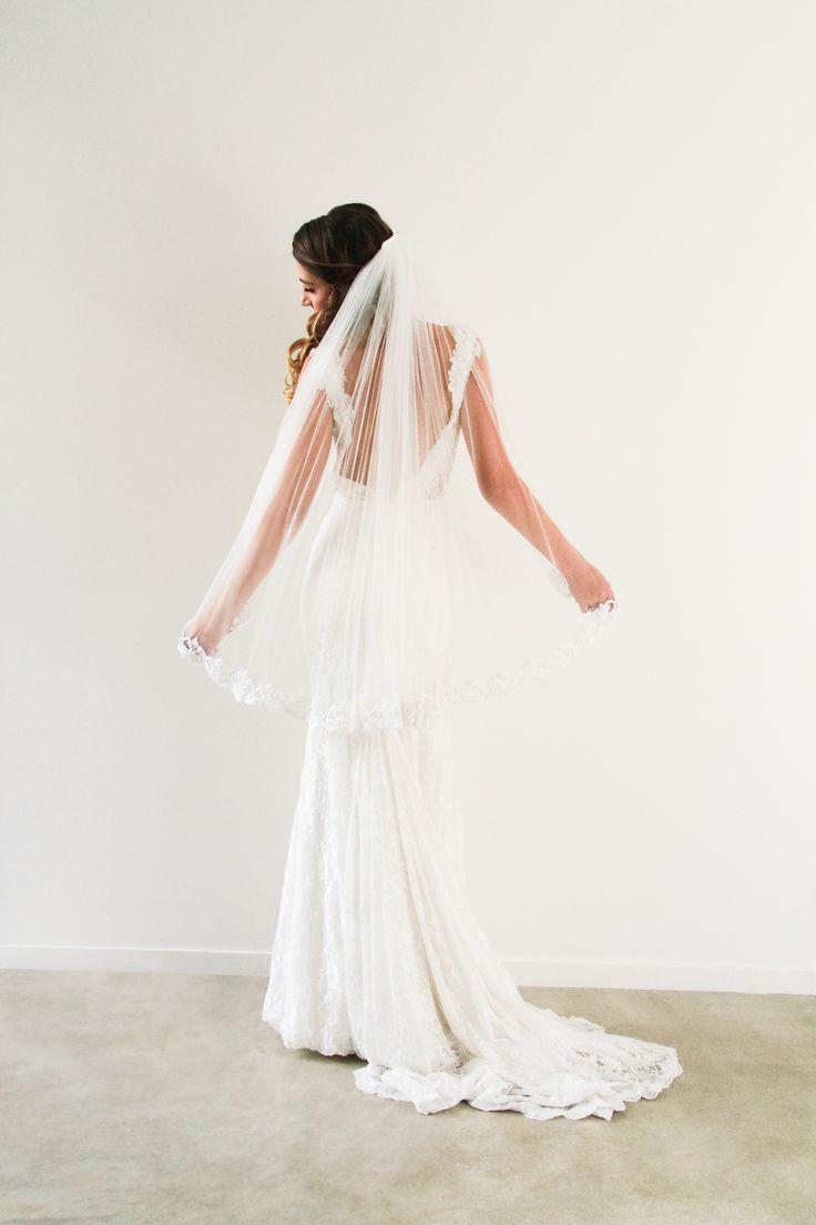 Fingertip Length Wedding Veil www.whenfreddiemetlilly.com.au