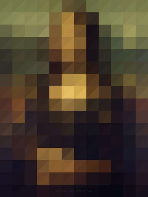 """Famed Pixelated Paintings - Sanghyuk Moon Digitized Classic Paintings to Test Their Iconic Status via #TrendHunter    """"Korean artist Sanghyuk Moon digitzed classic paintings and photos to see if they would still be recognizable."""""""