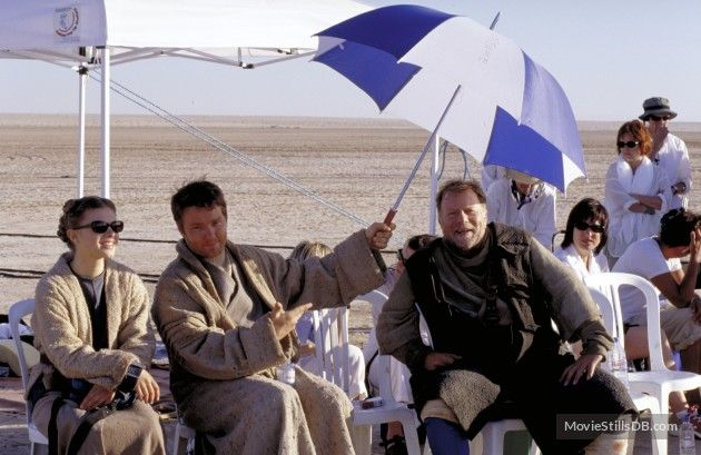 Star Wars: Episode II - Attack of the Clones behind the scenes photo of Joel Edgerton, Jack Thompson & Bonnie Piesse