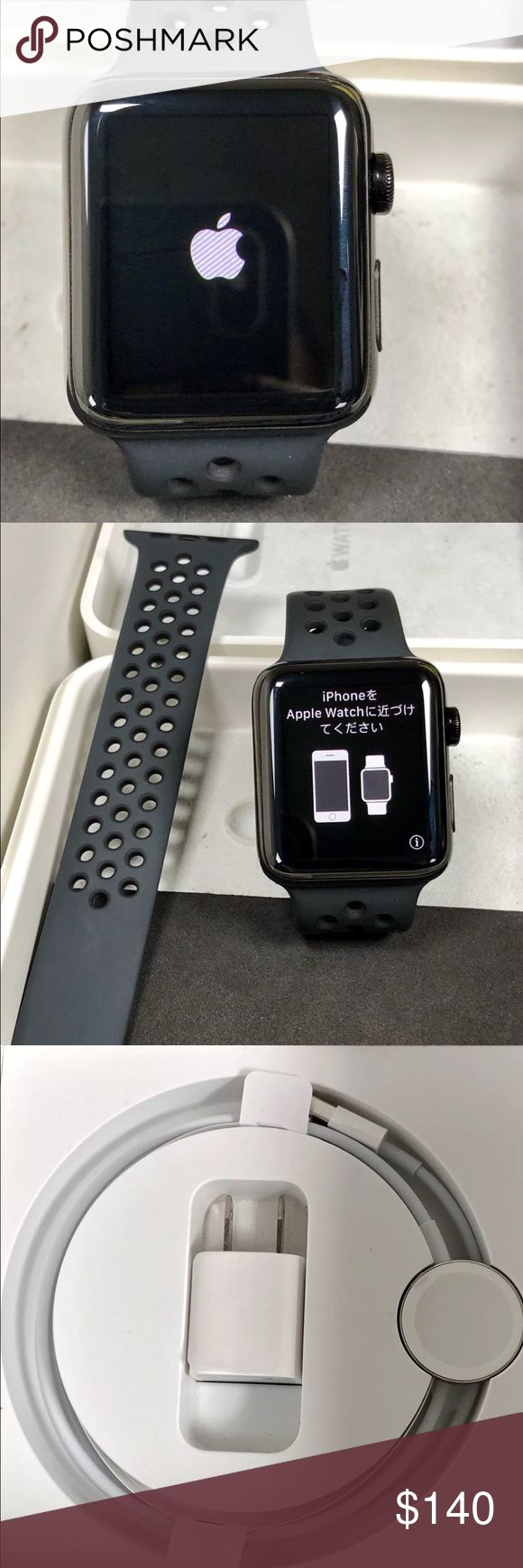 Apple Watch Series 2 42mm Black Nike Sport Band If you would like to purchase this product please contact our representative via telephone (201)-496-0366, also if you have questions about shoe sizes available or questions in general. Prices are negotiable so please be reasonable, also we use a third party application for payments. Apple Accessories Watches