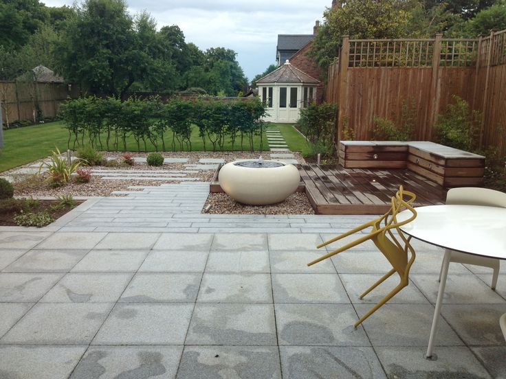 Best Country garden contemporary garden design granite paving plank paving