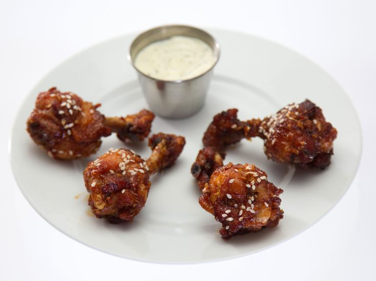Mongolian Kickin' Wings with Creamy Wasabi Dipping Sauce recipe from Rachael vs. Guy: Celebrity Cook-Off via Food Network