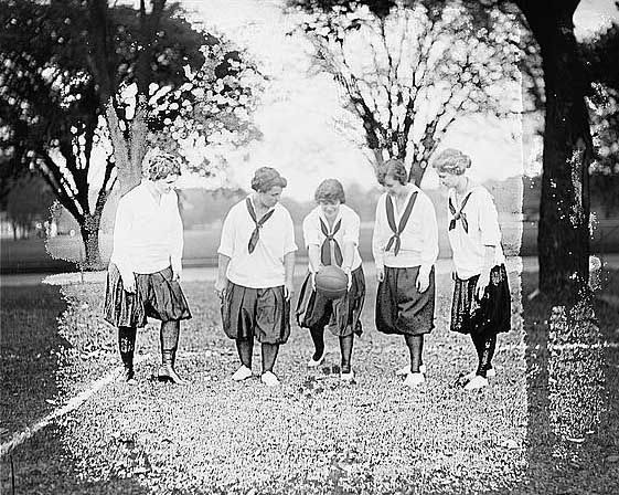 Girl's soccer team circa 1919.