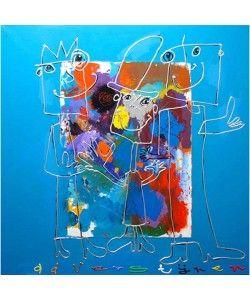 Schilderij Ad Verstijnen 3 poppetjes