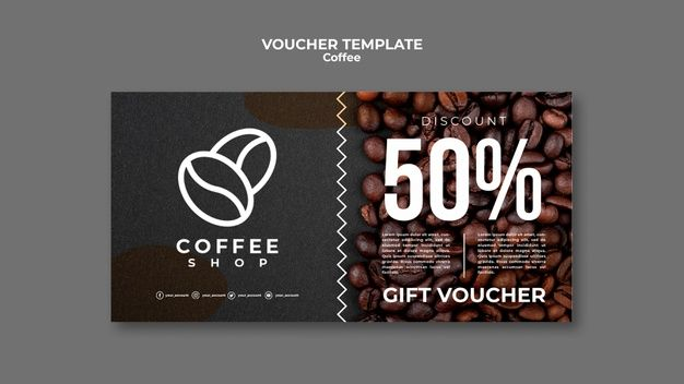 Coffee Shop Voucher Template Free Gift Certificate Template Voucher Template Free Voucher Design