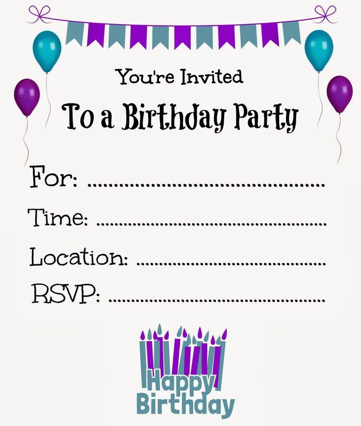 Nice Free Printable Birthday Invitations Online
