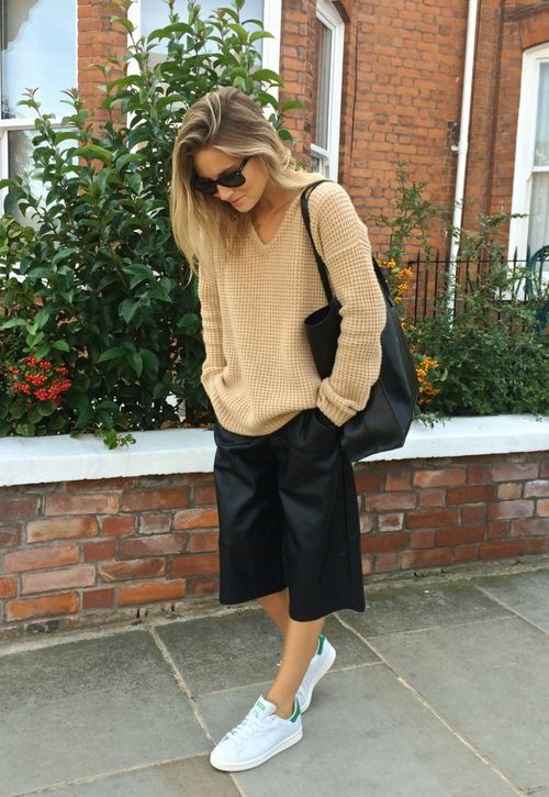 culottes + sneakers