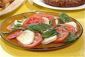 Caprese Salad from FoodNetwork.com  One of Angie and My very favorites