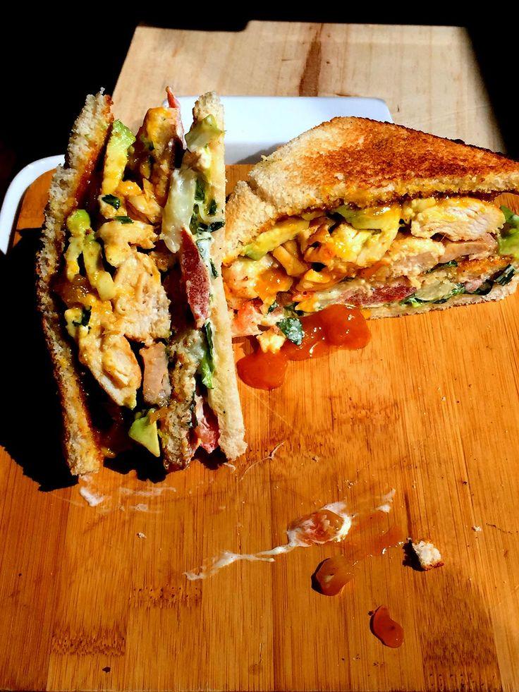 Sandwich au Poulet& au Chutney de Mangue