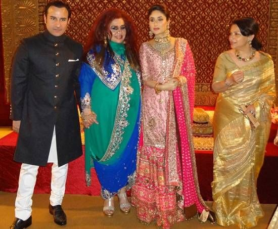Achkan | Picture of Kareena Kapoor, Saif Ali Khan, Sharmila Tagore at the Delhi ...