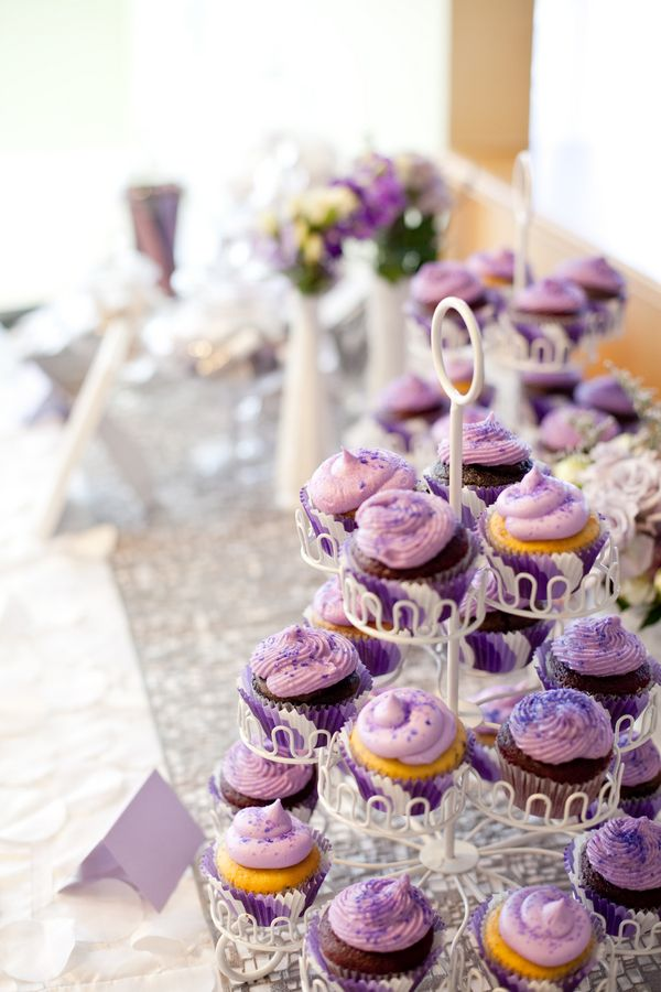 The Frosted Petticoat Party Themes purple cupcakes