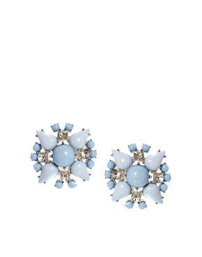 ALDO Loicia Stud Earrings  Very retro glamour style, but ouch, clip-ons! How we suffer for beauty...