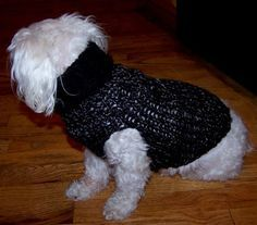 Maltese Dog Knitting Pattern : Pin by Kay Dill on loom knitting Pinterest Loom, Dog sweaters and Loom knit
