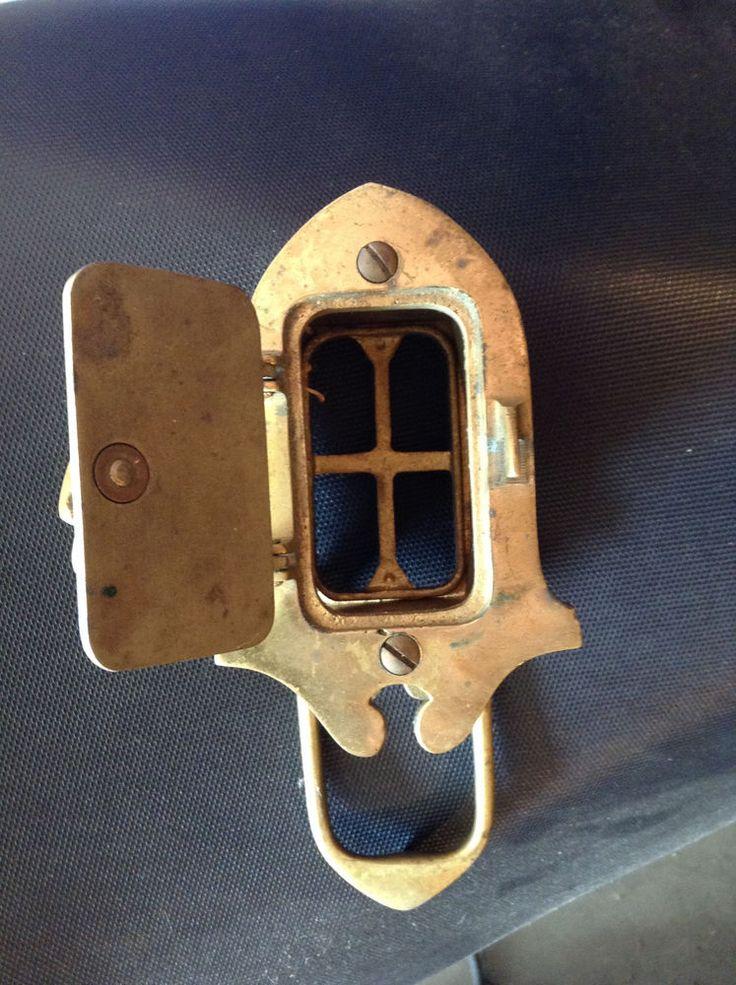 Vintage Brass Door Knocker With Speakeasy Peep Hole Door