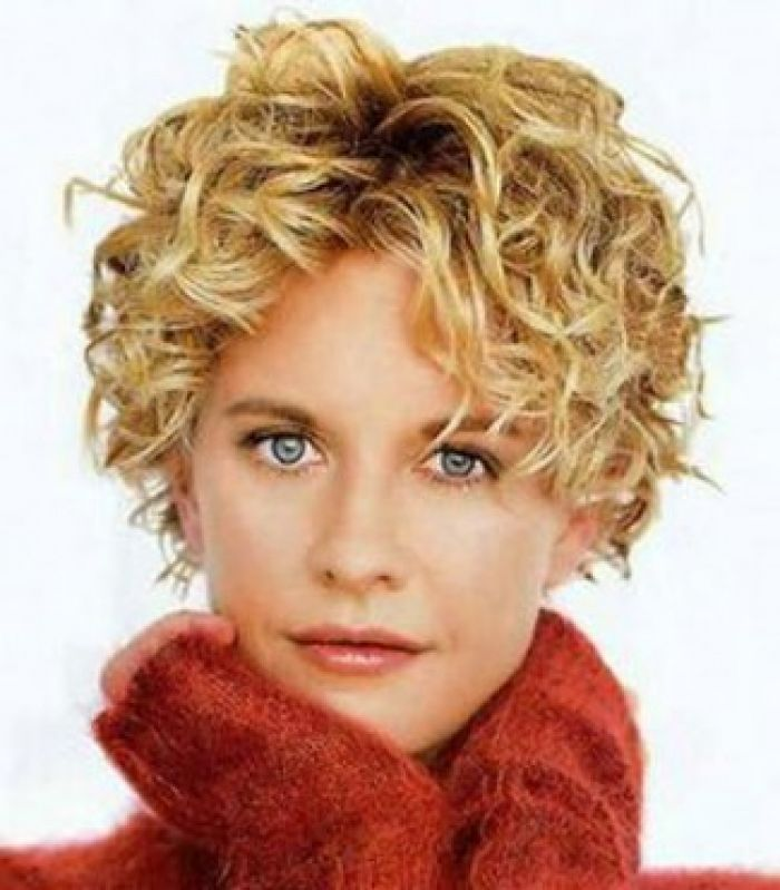 Meg Ryan Layered Short Curly Hair- wish my hair would behave this short.