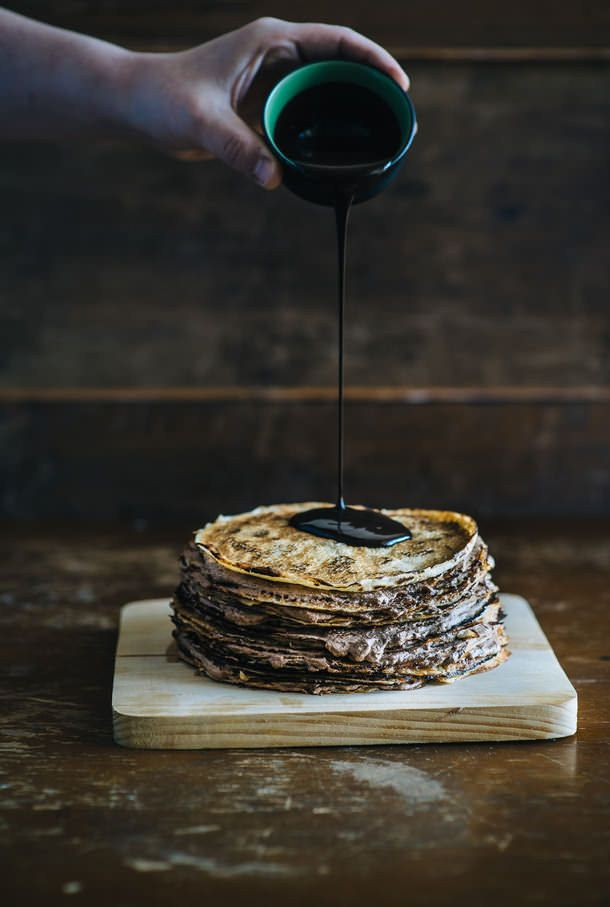 Nutella Crêpe Cake | Community Post: 16 Luscious Crêpe Recipes To Celebrate Pancake Day