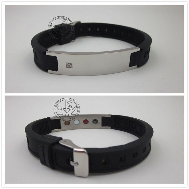 DHL Free shipping 316titanium steel man bracelet Stainless Steel men's charm bracelets & bangles fashion silicone chains 20pcs