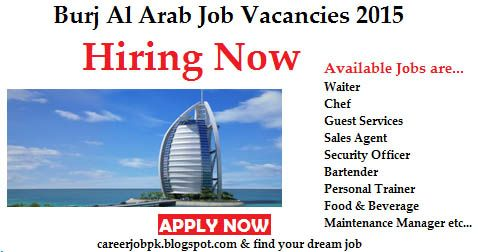 Burj Al Arab Hotel Jobs in Dubai