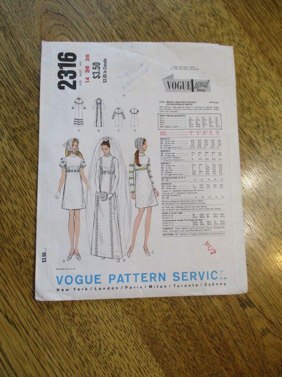 RARE 1970s Designer Empire Line A-Line Bridal / Wedding Gown