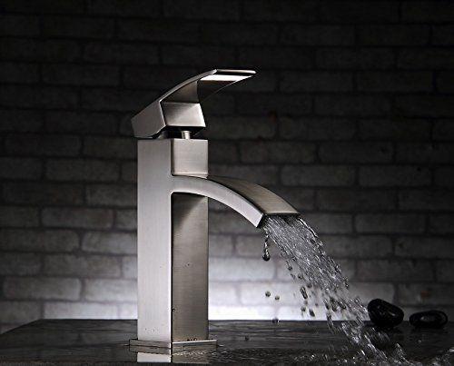 Aquafaucet Vessel Bathroom Lavatory Vanity Sink Faucet Brushed Nickel