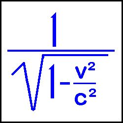 """The above formula is used for calculating the changes that occur when objects approach the speed of light. An object in motion undergoes 3 relativistic changes: 1) an increase in mass, 2) a contraction in the direction of travel (Lorentz Transformation) and 3) A """"slowing down"""" of time. (Time Dilation)"""