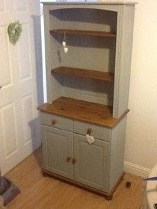 Beautiful Shabby Chic Welsh Dresser In Annie Sloan Paris Grey