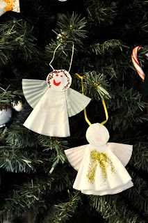 christmas ornaments coffee filters | Coffee Filter Angel